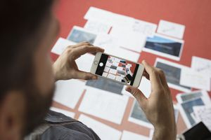 Photographing paperwork with an iPhone