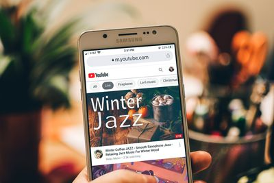 YouTube mobile website home page