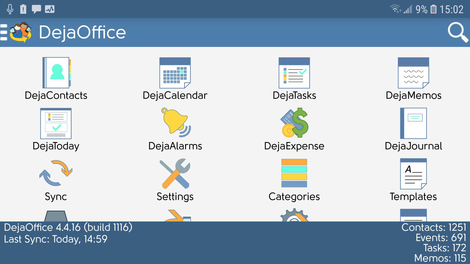 Screen shot of DejaOffice