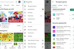 Update apps on Android in the Google Play Store