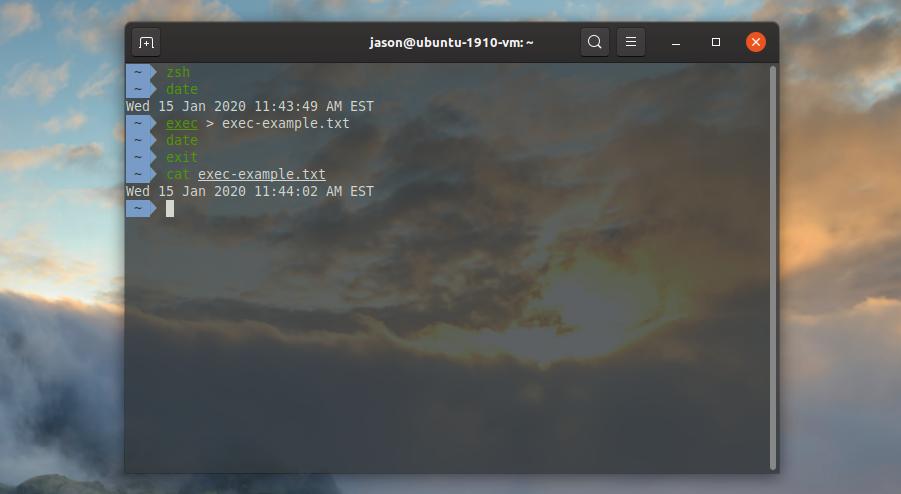 linux exec command