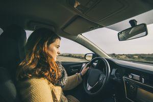 Teen girl driving
