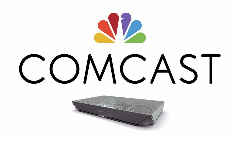 Comcast Logo with XG1v4 Cable Box