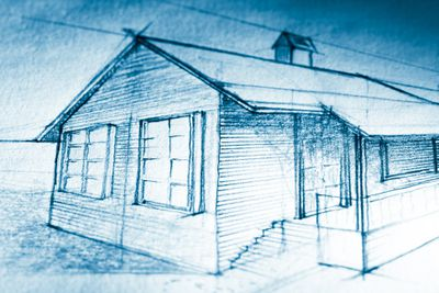 Tiltshifted sketch of a cottage