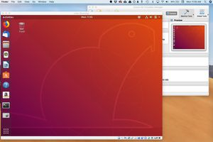 Virtual Box running Linux on macOS