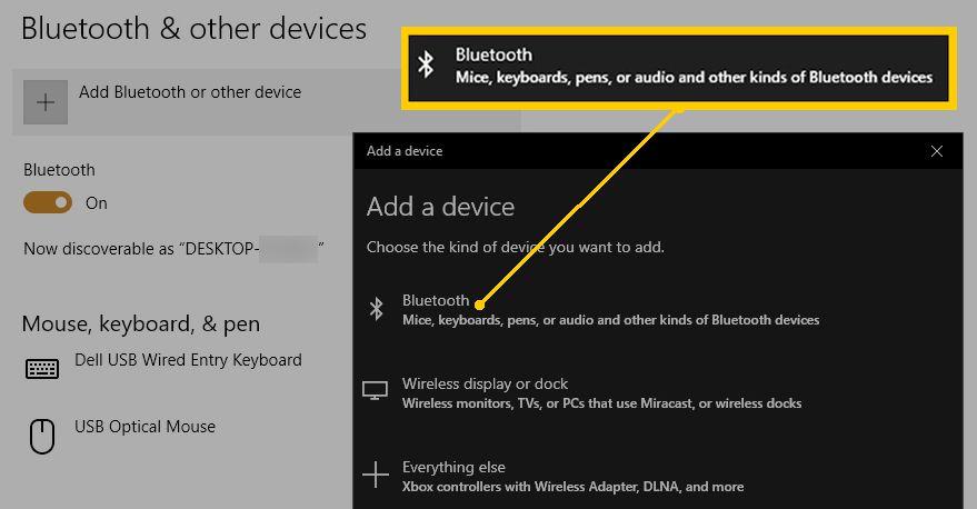 PC Add Bluetooth Device