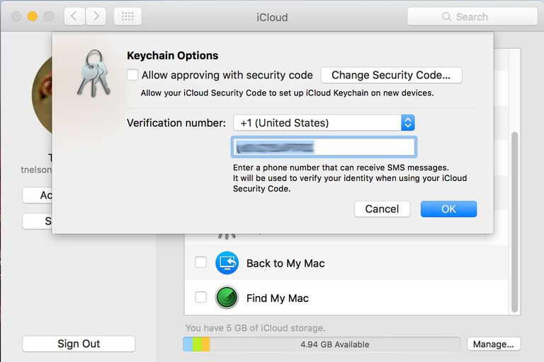 iCloud Keychain - Changing Phone Number