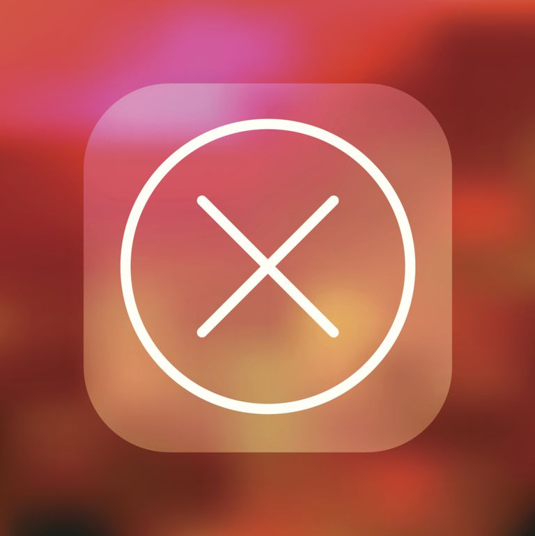 x sympbol to delete iphone apps