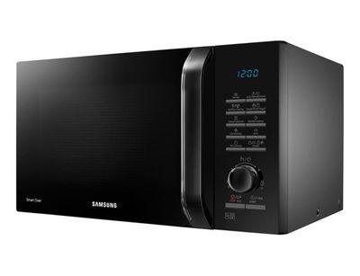 Black Samsung smart microwave