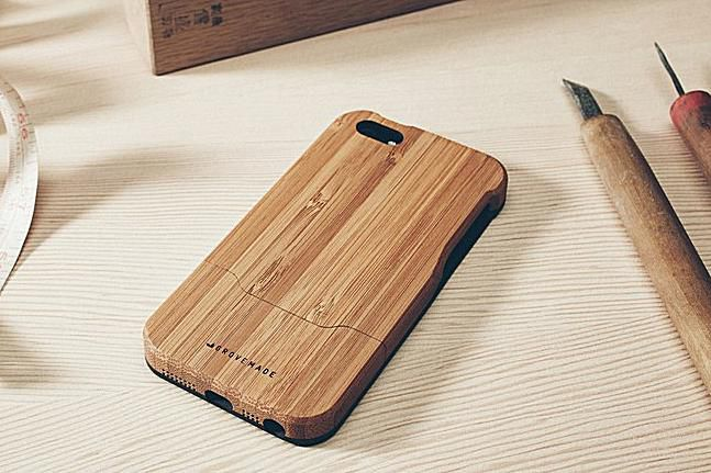 The Grovemade bamboo and wooden iphone case