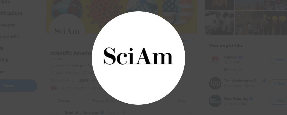 SciAm logo on Twitter
