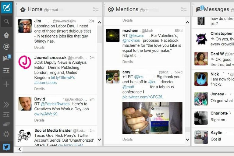 TweetDeck Dashboard screenshot