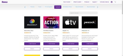 The Roku Channel Store.