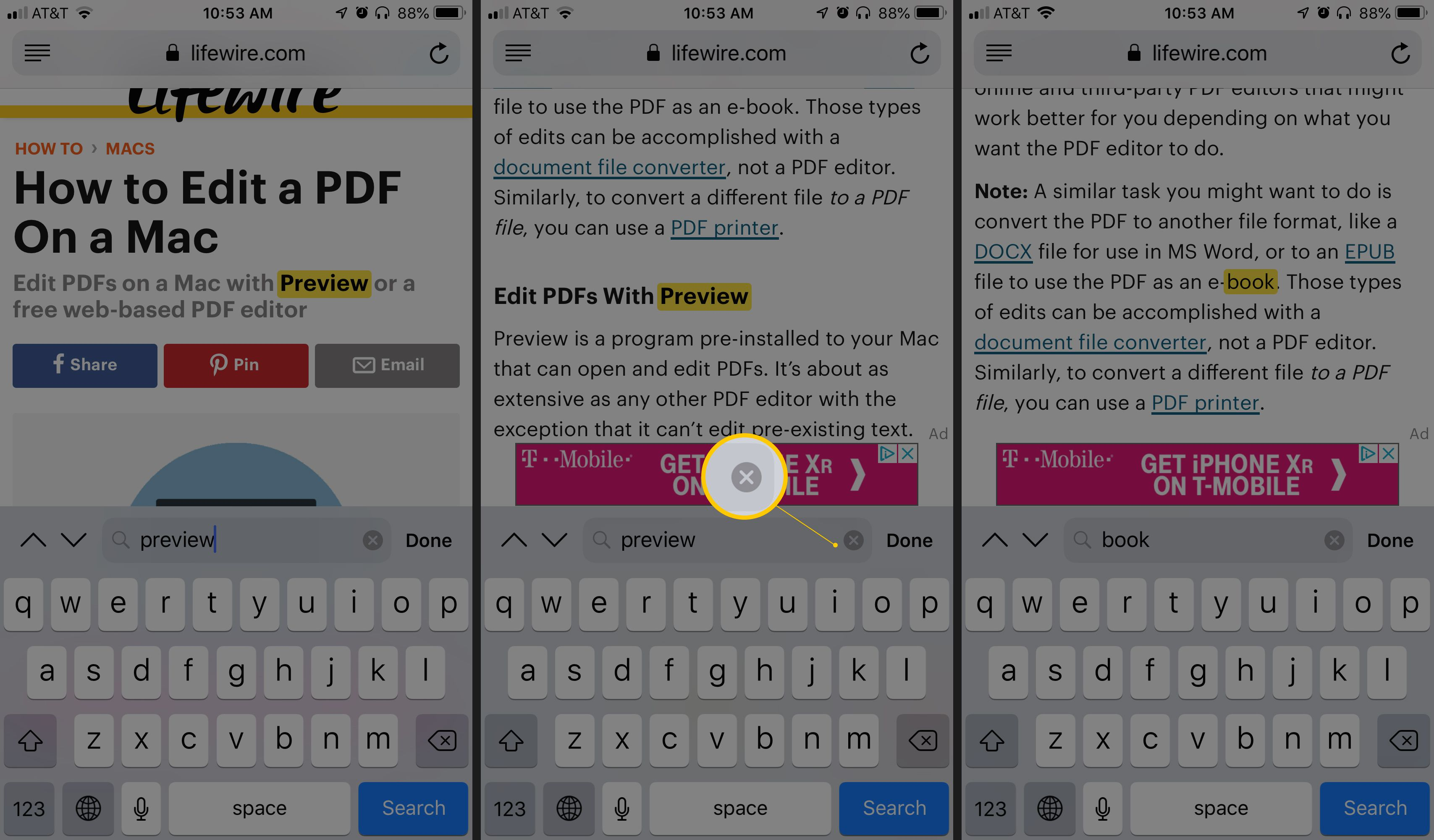 How to Search for Text in Safari With iPhone Find on Page