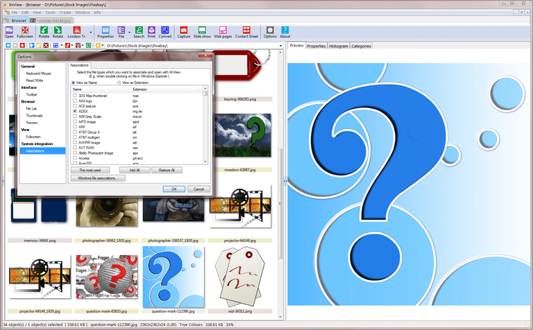 XnView Freeware Screen Shot