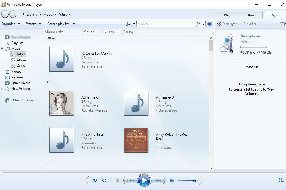Sync Media Files in Windows Media Player