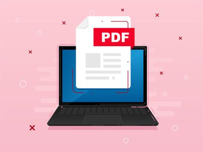 An image graphic of a PDF file on a laptop screen.