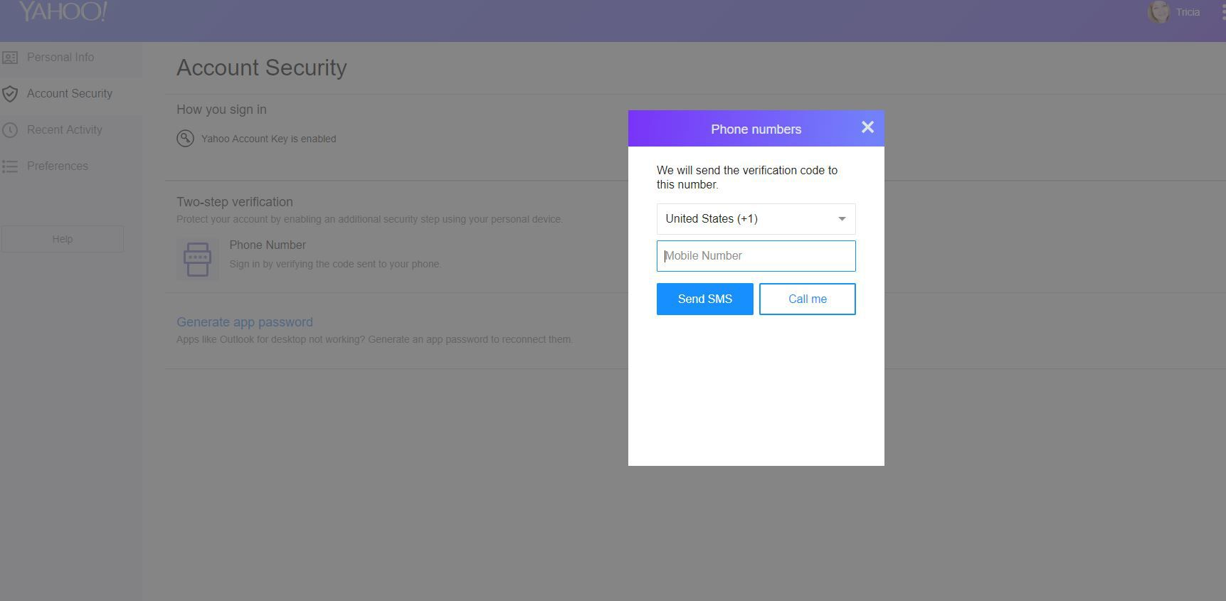 How to Deal With Access Key Log-In to Yahoo! Mail