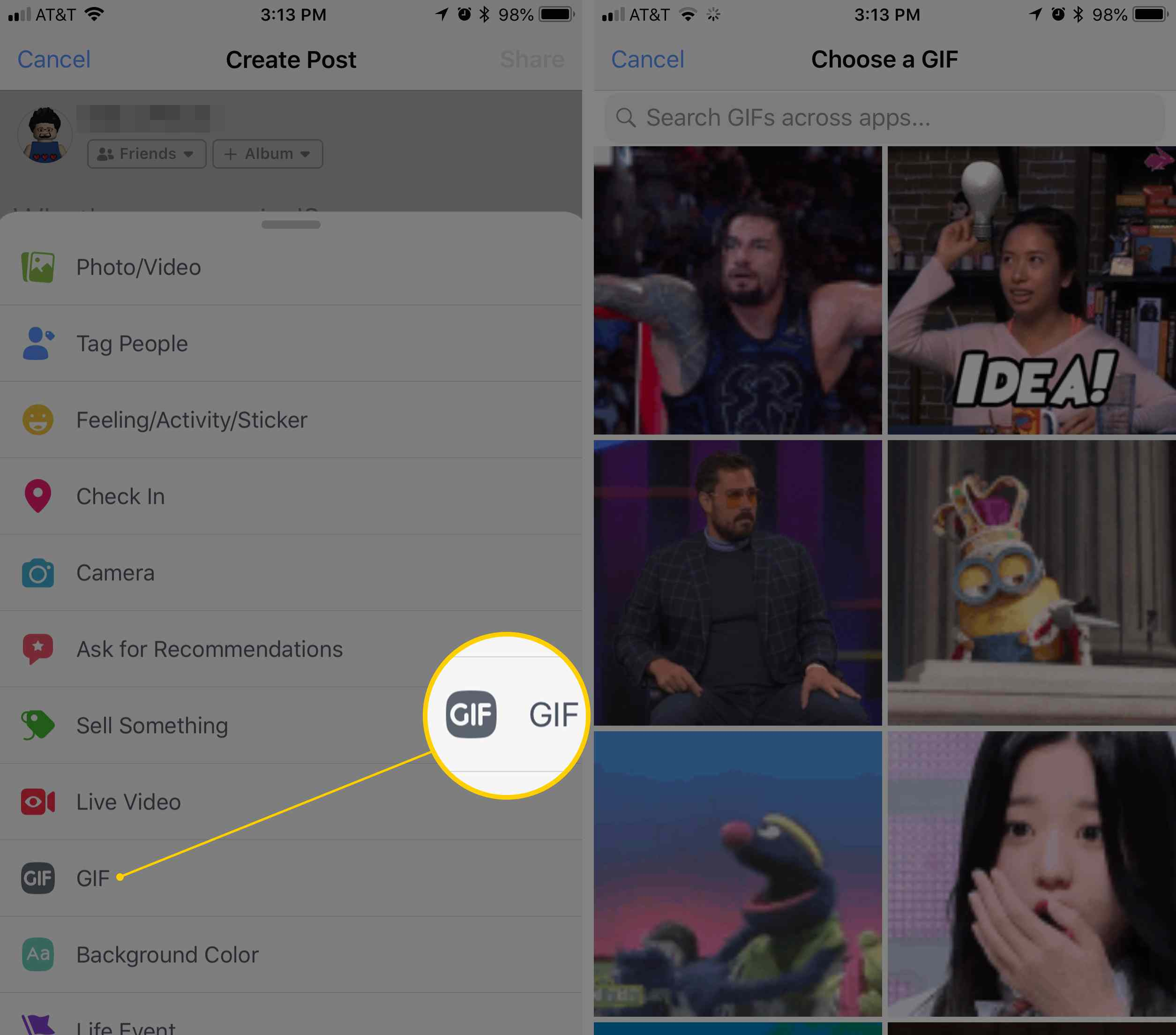How to Post GIFs on Facebook