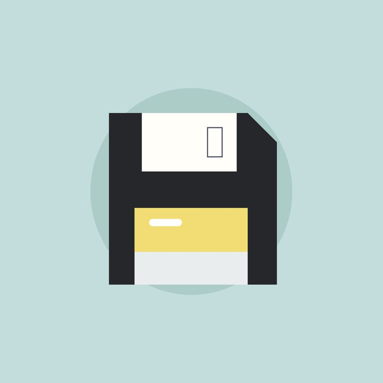 Graphic of floppy disk icon