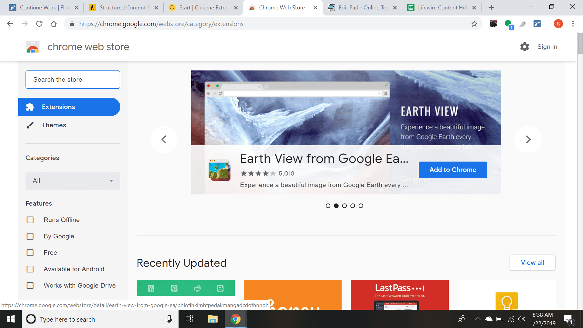 chrome extension download them all