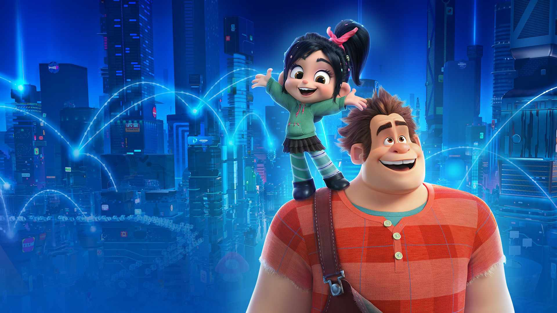 Wreck-It Ralph and Vanellope in Ralph Breaks The Internet