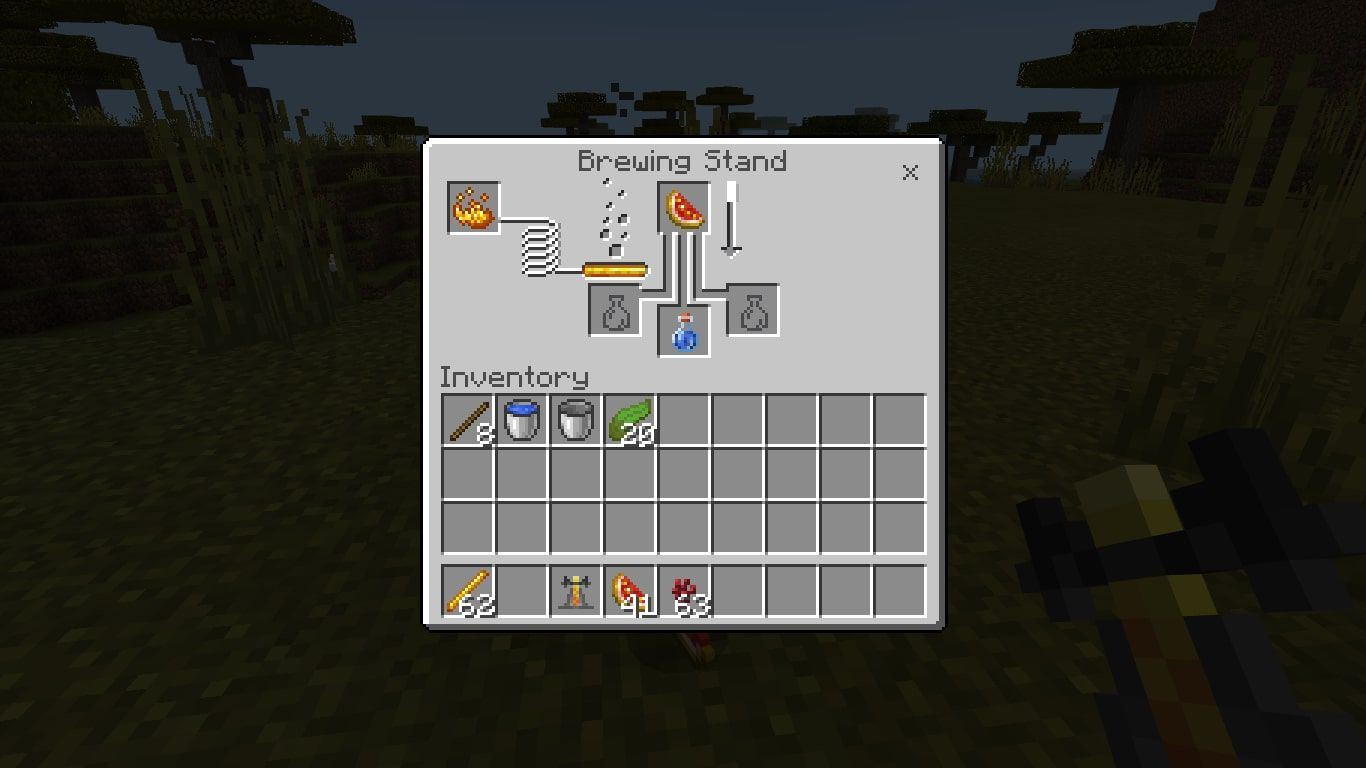 Add the Glistering Melon to the box at the top of the brewing menu.