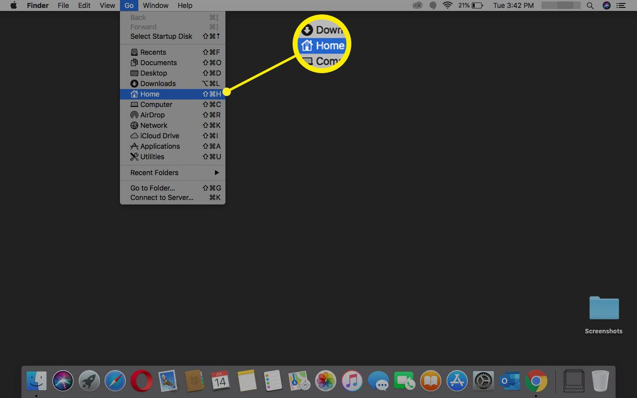 Opening Home in macOS.