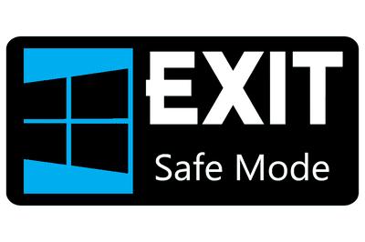 Exit safe mode sign