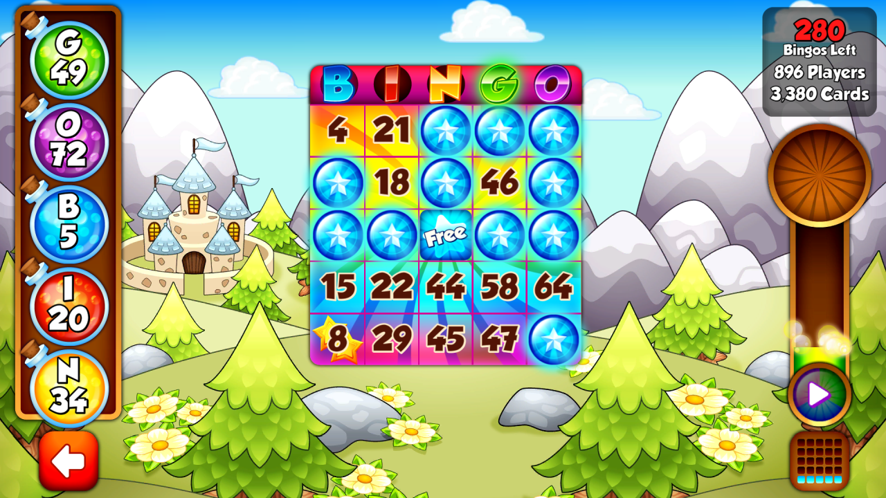 Screenshot of playing Bingo Story in Android