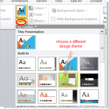 what is theme in powerpoint