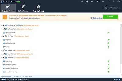 Wise Registry Cleaner v10.1.1 in Windows 8