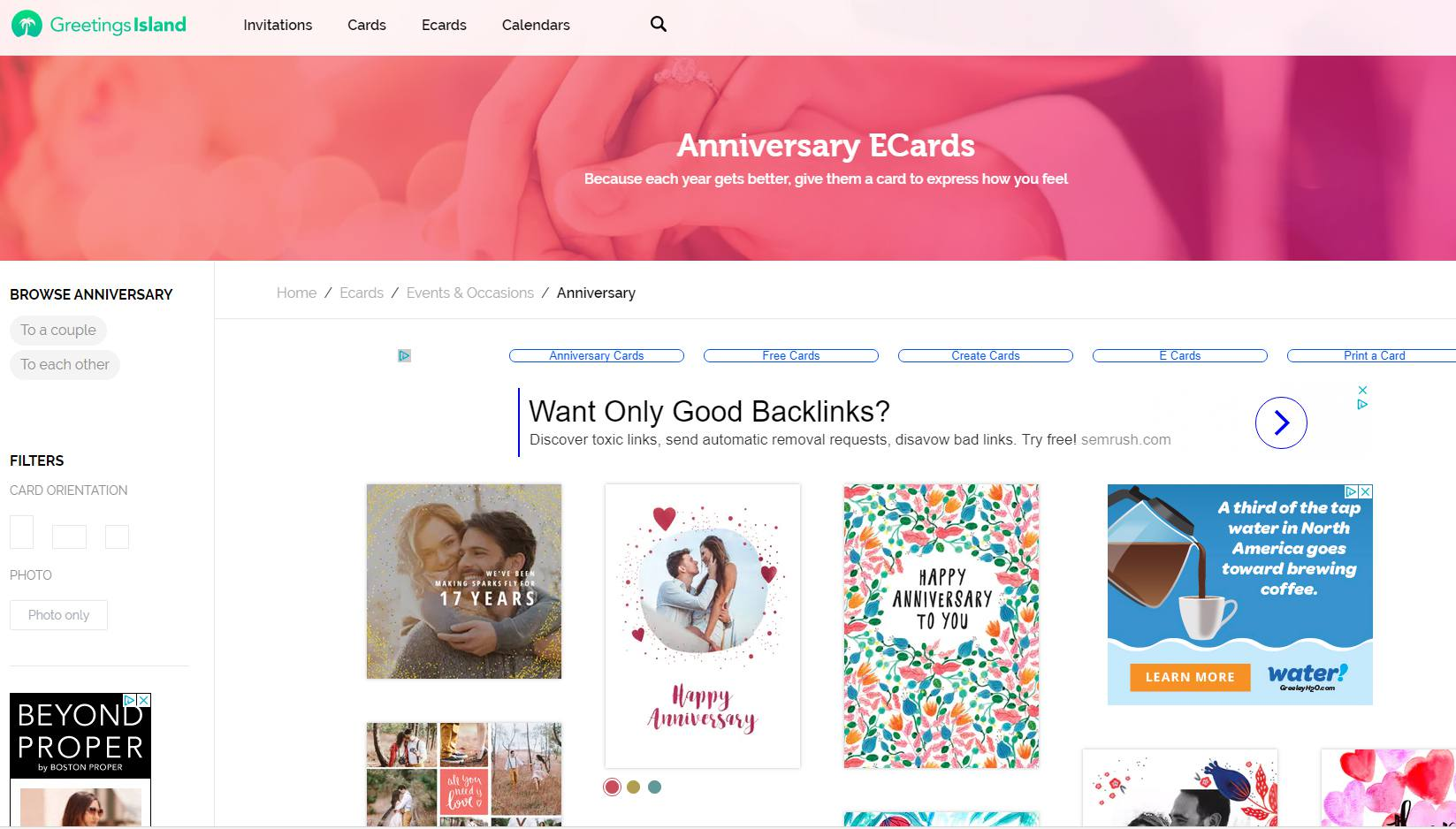 A Selection Of Anniversary Ecards From Greetings Island