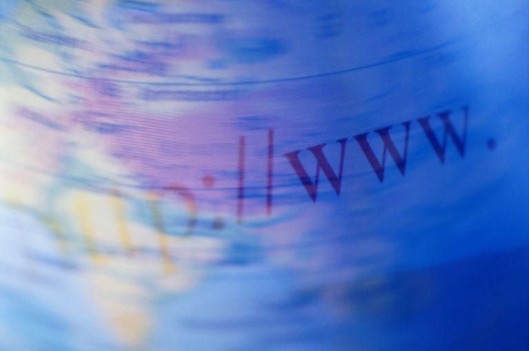 www on spinning globe