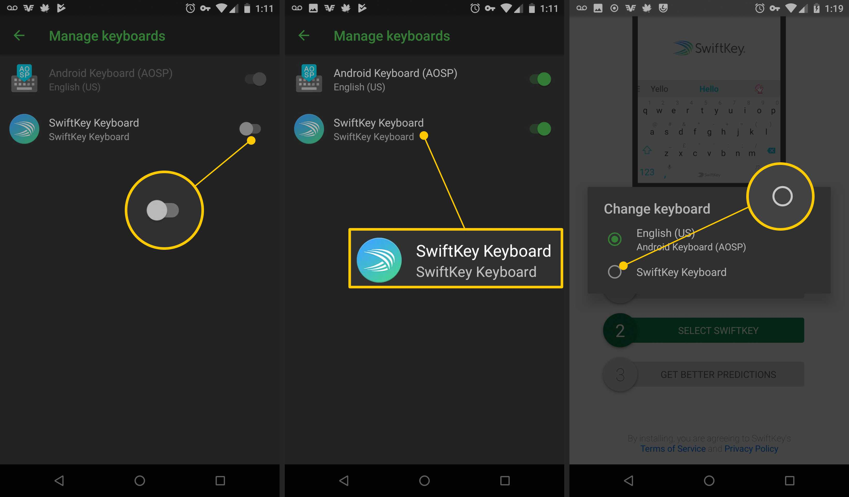 e94556dbeb7 SwiftKey toggle, SwiftKey Keyboard, radio button on Android