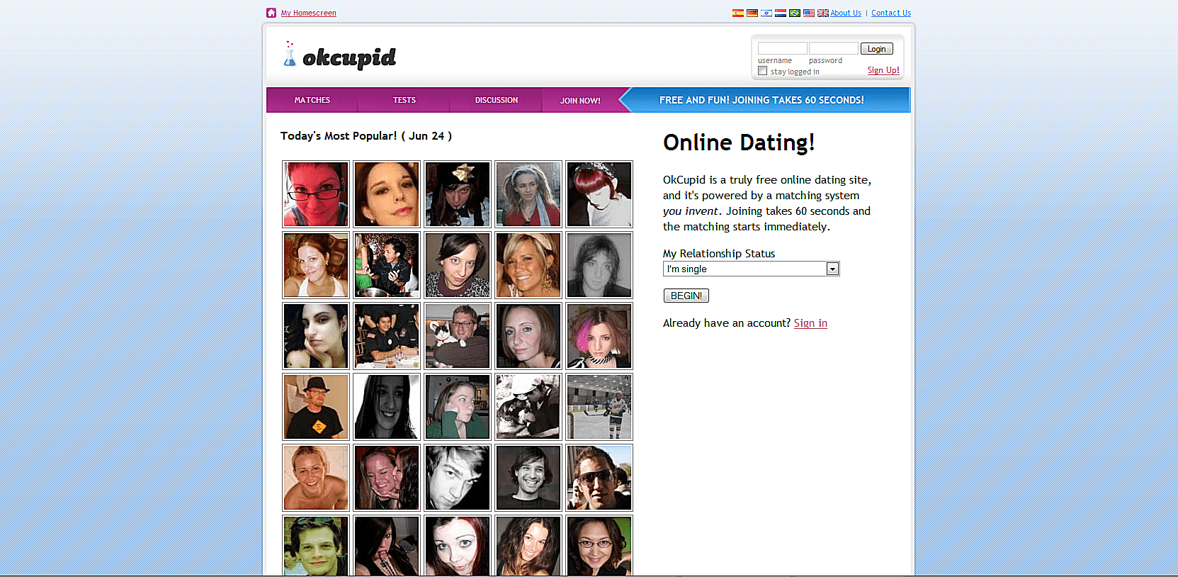 Connect your existing OkCupid account