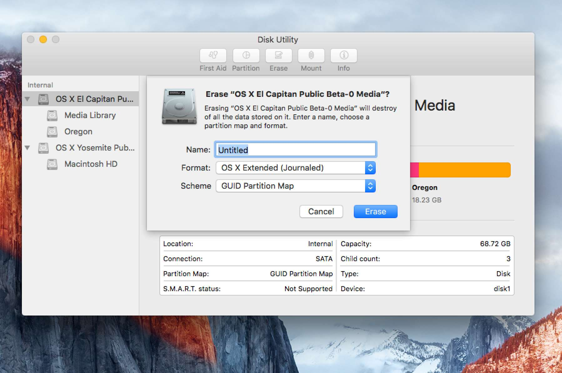 Format a Mac's Drive With Disk Utility (OS X 10 11 or Later)