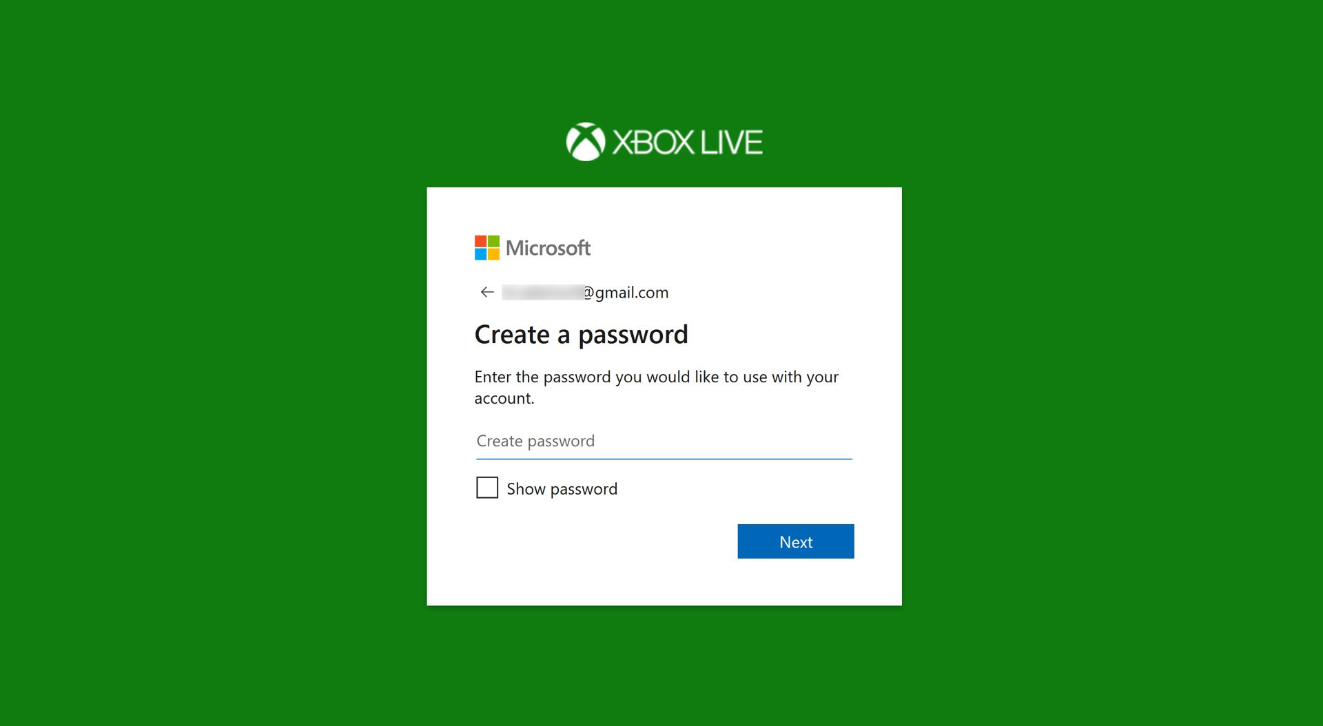 How To Create An Xbox Account