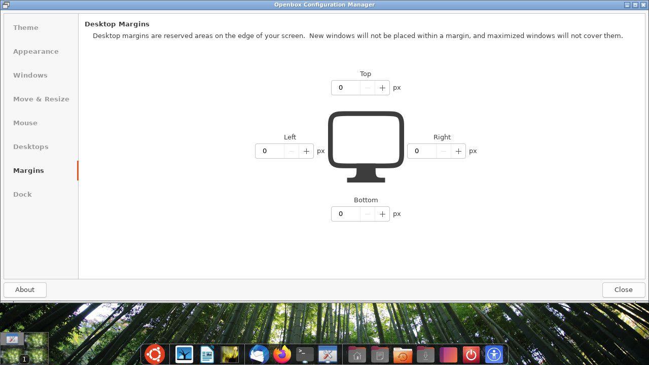 Ubuntu Openbox margin settings