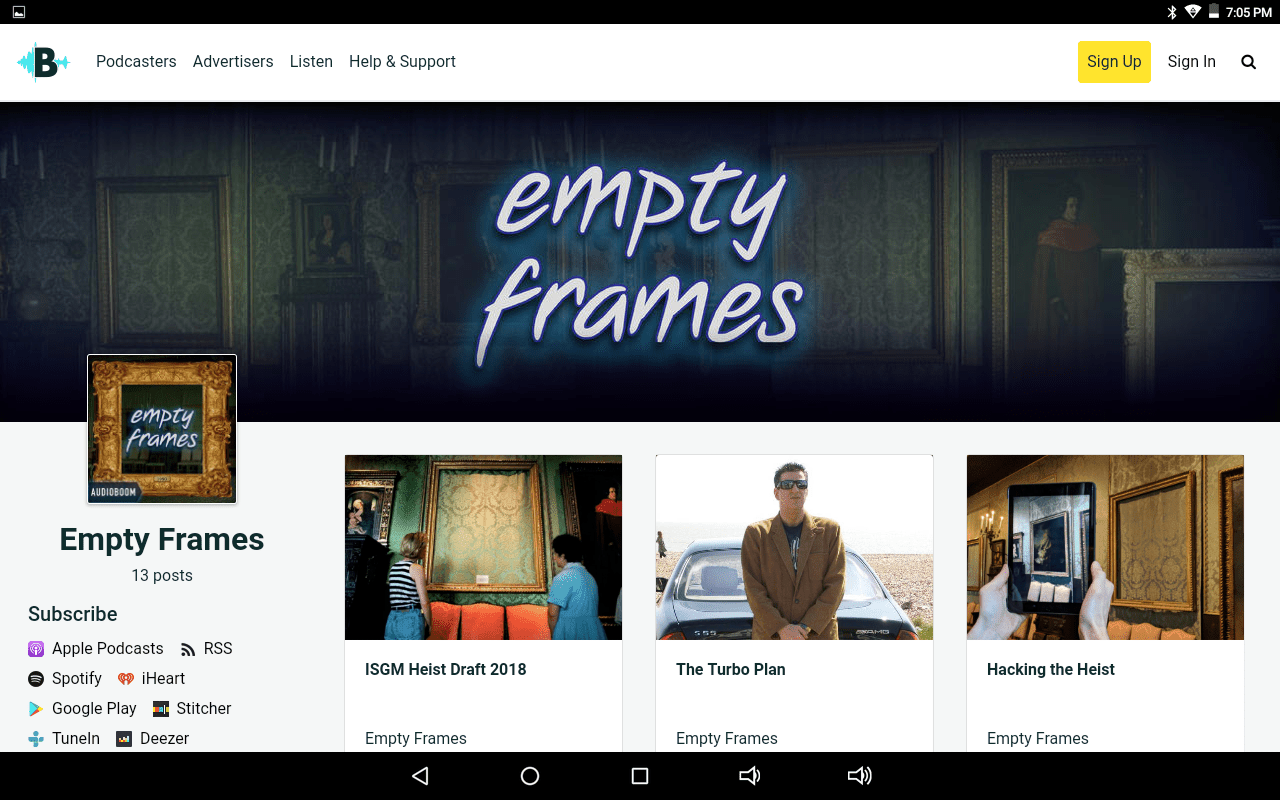 Empty Frames podcast