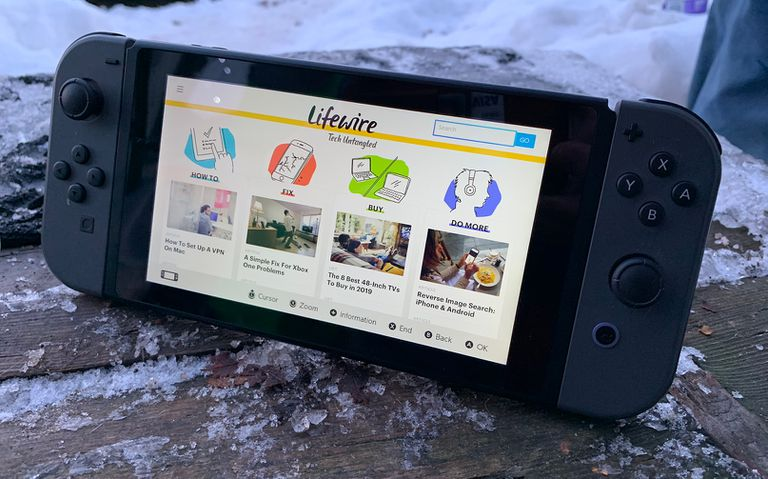 Nintendo Switch's hidden browser