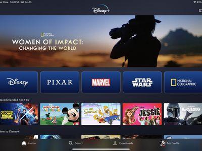 Screenshot of the Disney Plus app on iPad