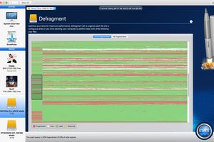 Drive Genius 4 Defragment feature