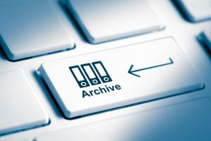 Image of an Archive button