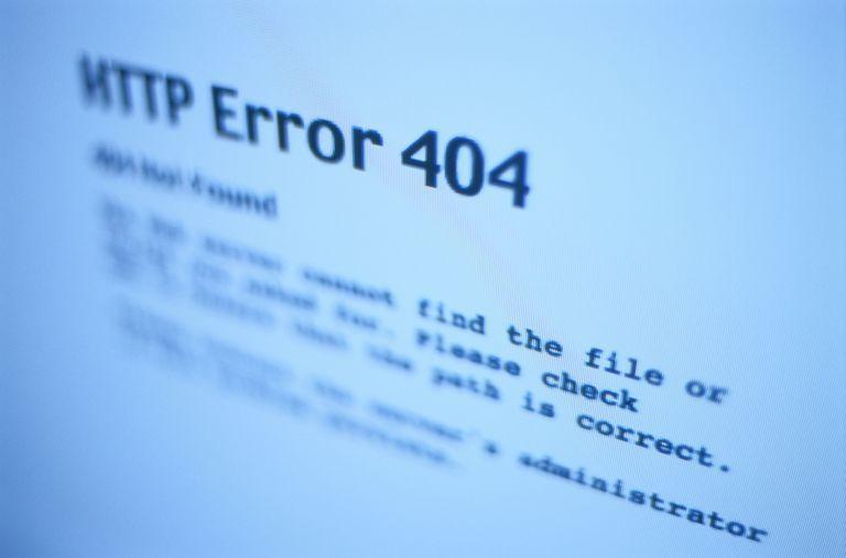 HTTP Error Message on a Computer Screen