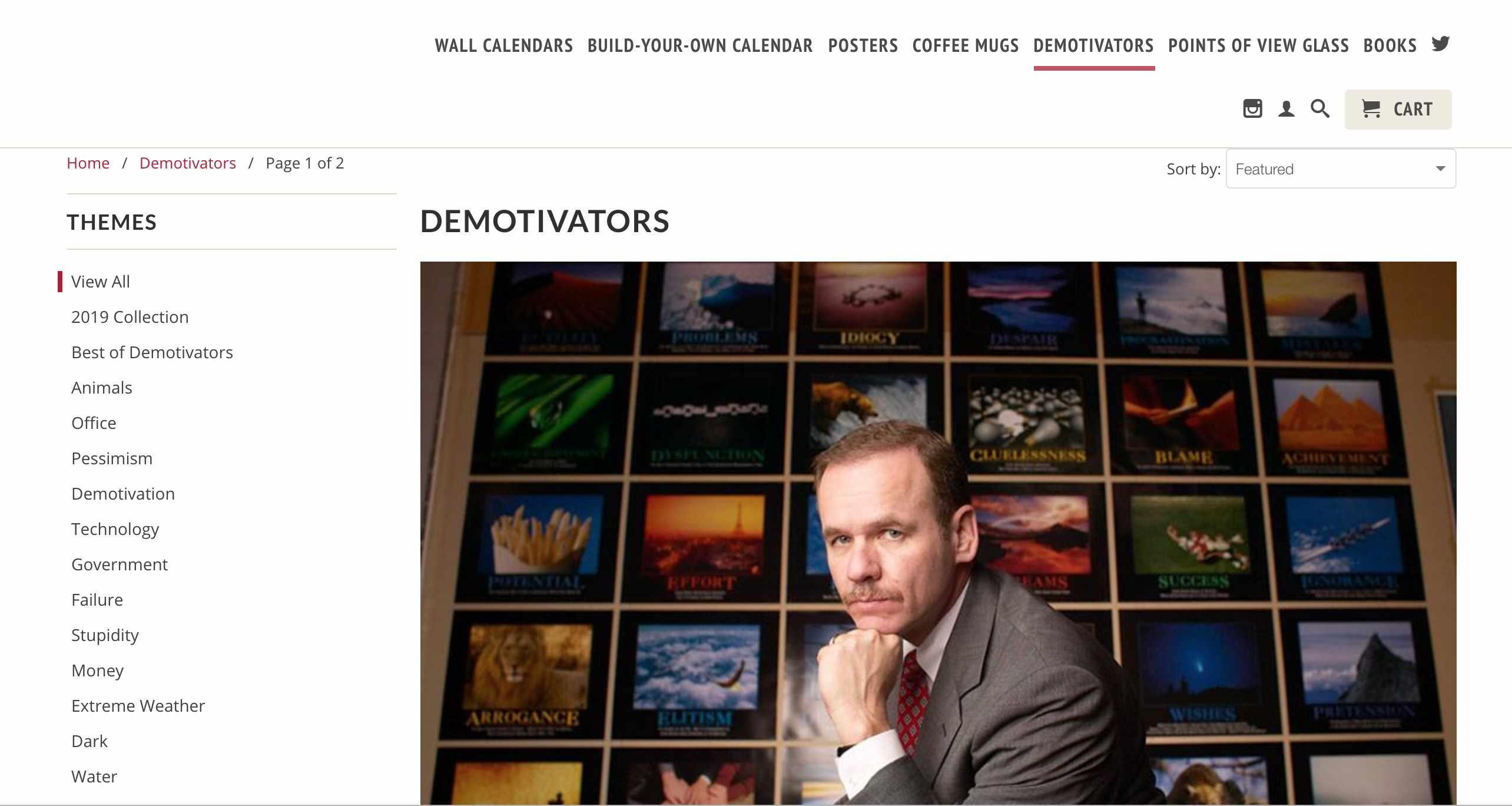Demotivators home page
