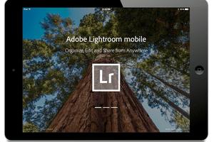 Adobe Lightroom mobile on the iPad