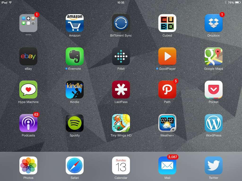 Apps on an iPad