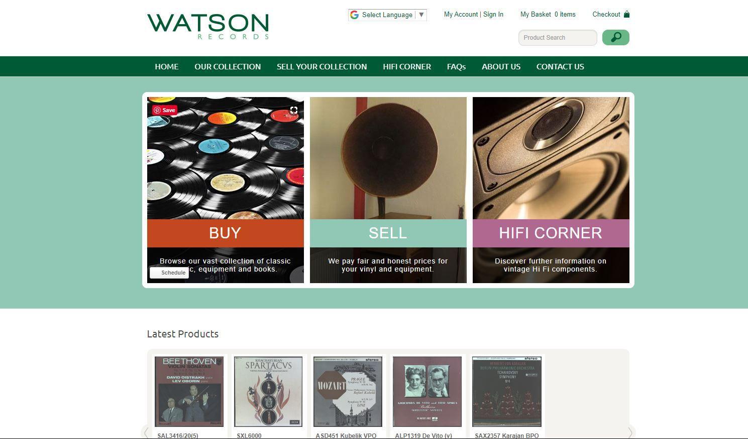 Screenshot of Watson Records