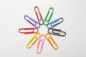 Colourful Paperclips in a cirlce